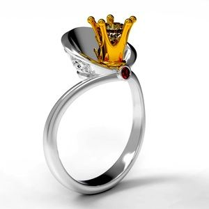 .925 Sapphire Ruby Queen Ring